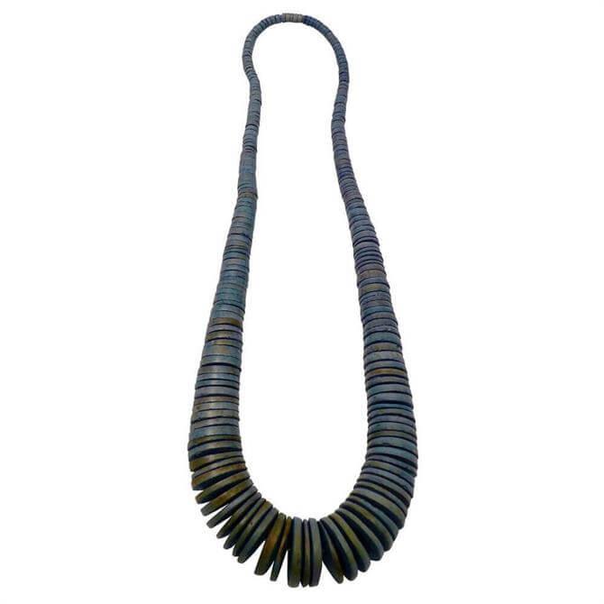 Lotusfeet Graduated Coconut Disc Faded Necklace