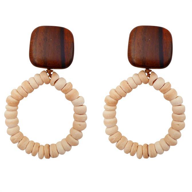 Lotusfeet Coconut Shell Bead Earrings