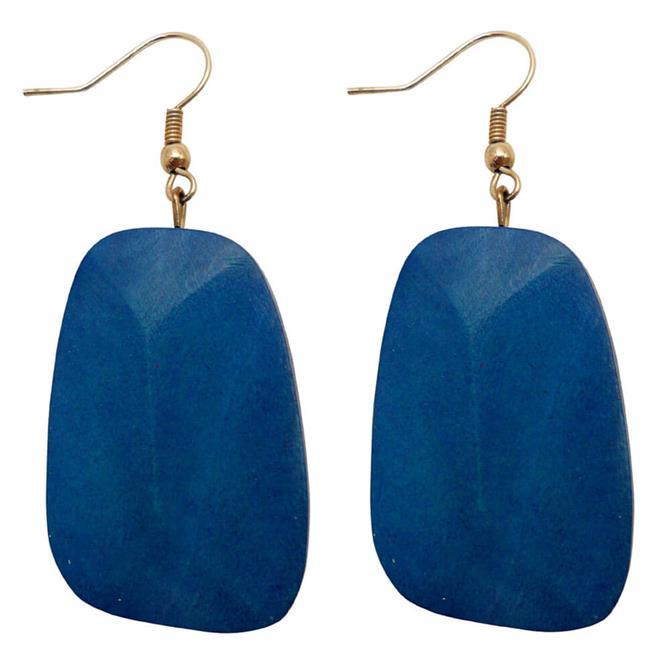 Lotusfeet Wood Drop Earrings