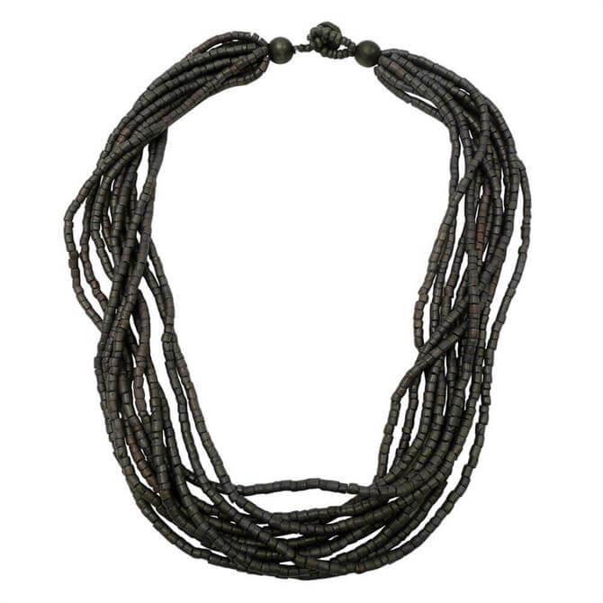 Lotusfeet Heishi Beaded Necklace