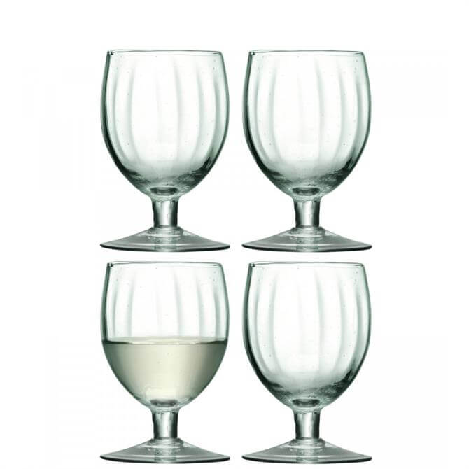 LSA Mia Set of 4 Recycled Wine Glasses