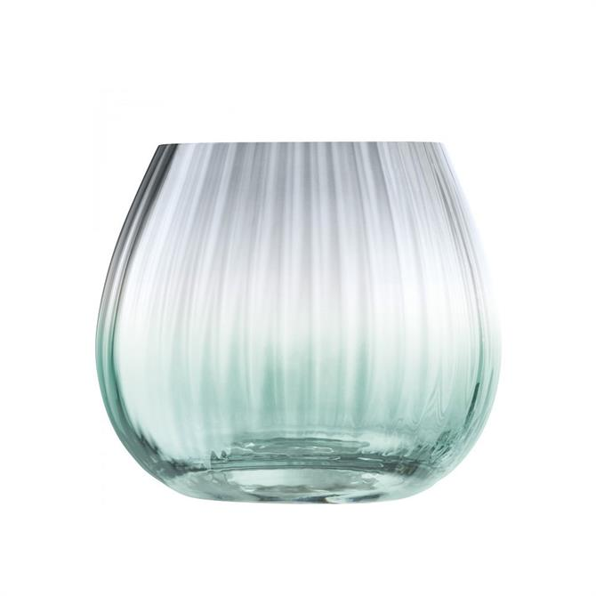 LSA Dusk Lantern Vase 13cm  Green Grey