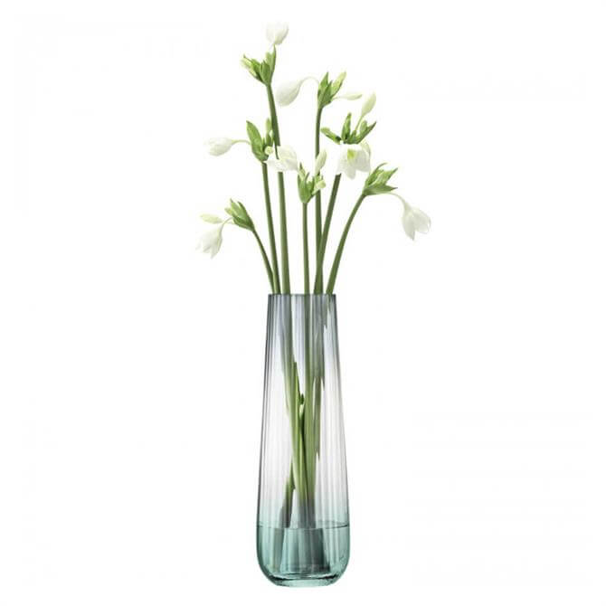 LSA Dusk Vase Green Grey 36cm