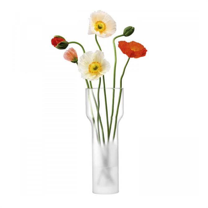 LSA Mist Part Frost Vase 35cm