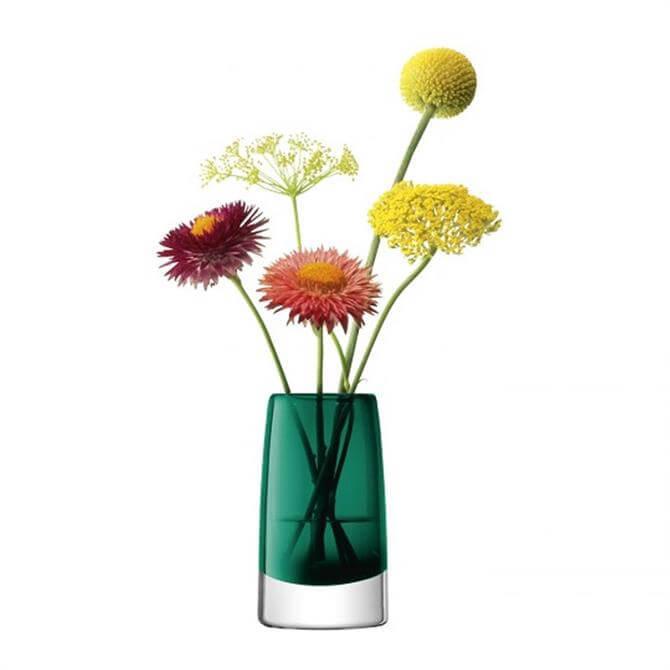 LSA Stems Mini Vase 10cm Marine Green