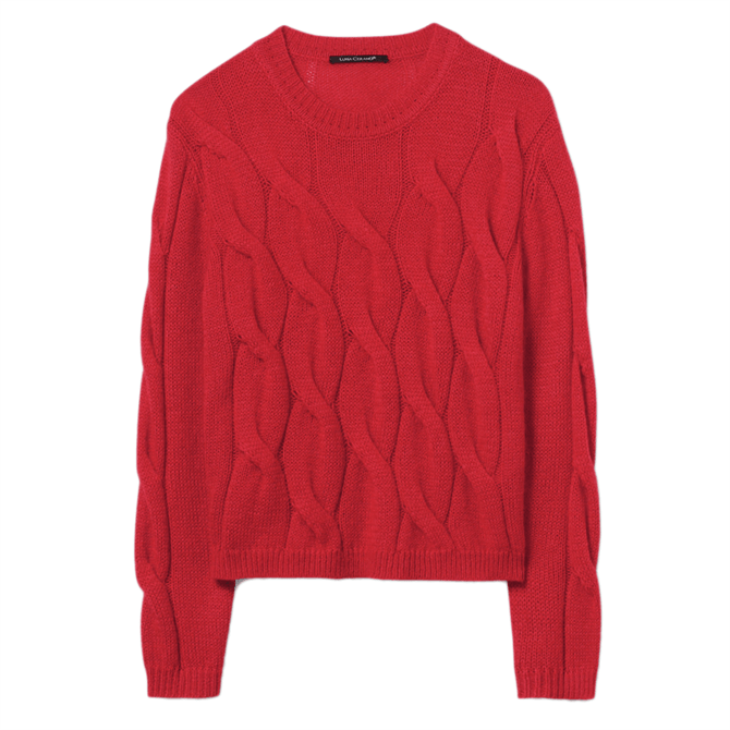 Luisa Cerano Mohair Blend Cable Pattern Jumper