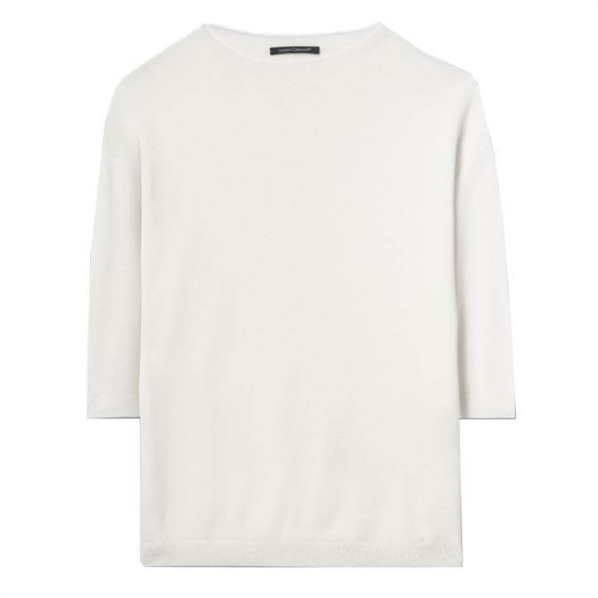 Luisa Cerano Cropped Sleeve Jumper