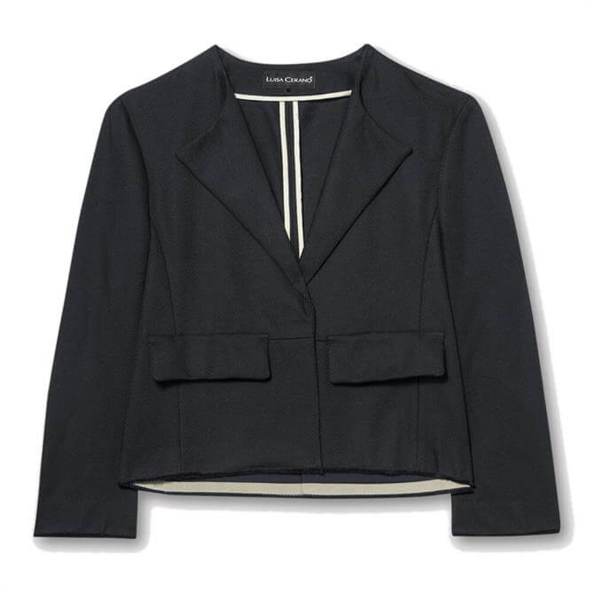 Luisa Cerano Cropped Cotton Twill Jacket