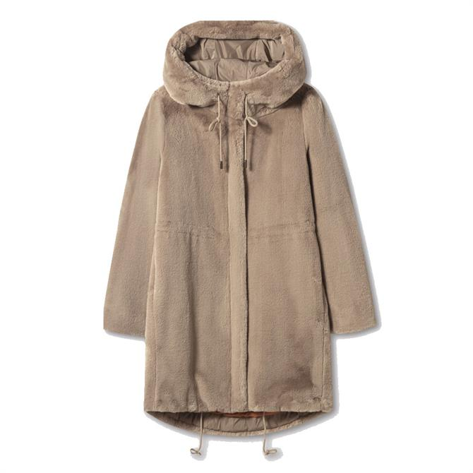 Luisa Cerano Faux Fur Parka Coat