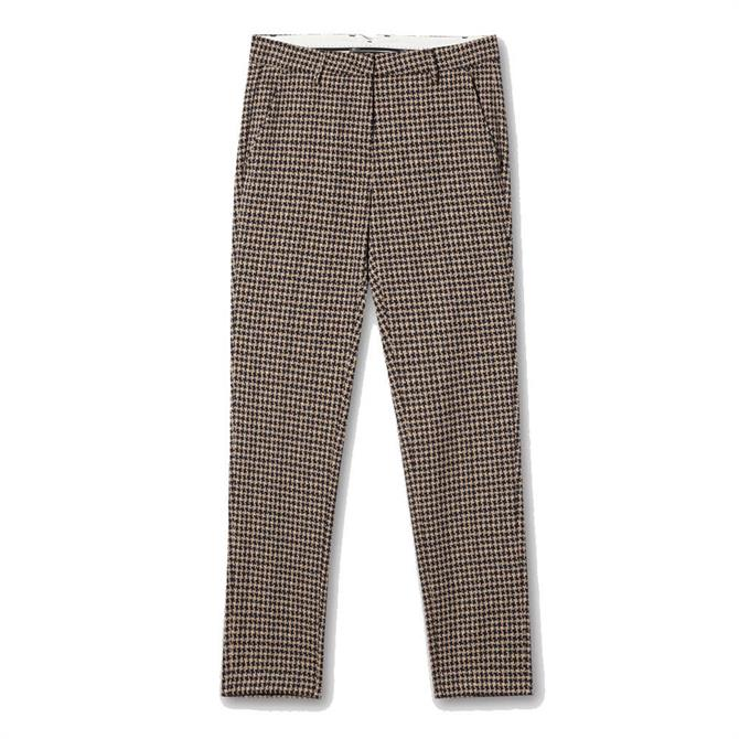 Luisa Cerano Houndstooth Slim Fit Trousers