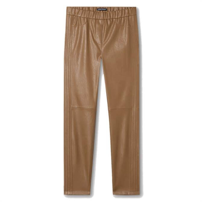 Luisa Cerano Leather Look Skinny Trousers