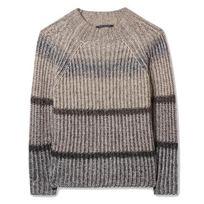 Luisa Cerano Metallic Yarn Striped Knit Jumper
