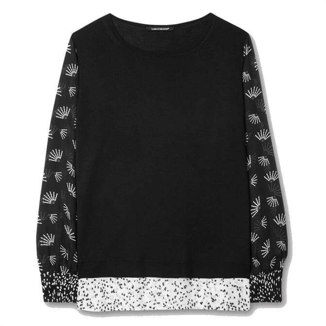 Luisa Cerano Patched Sleeved Jumper