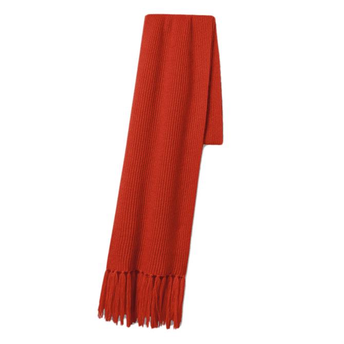 Luisa Cerano Rib Knit Fringed Scarf