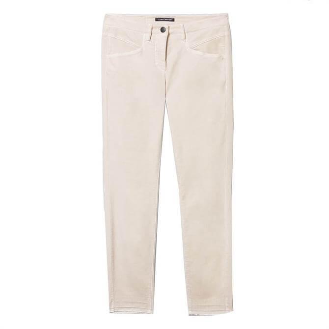 Luisa Cerano Stretch Velvet Skinny Trousers