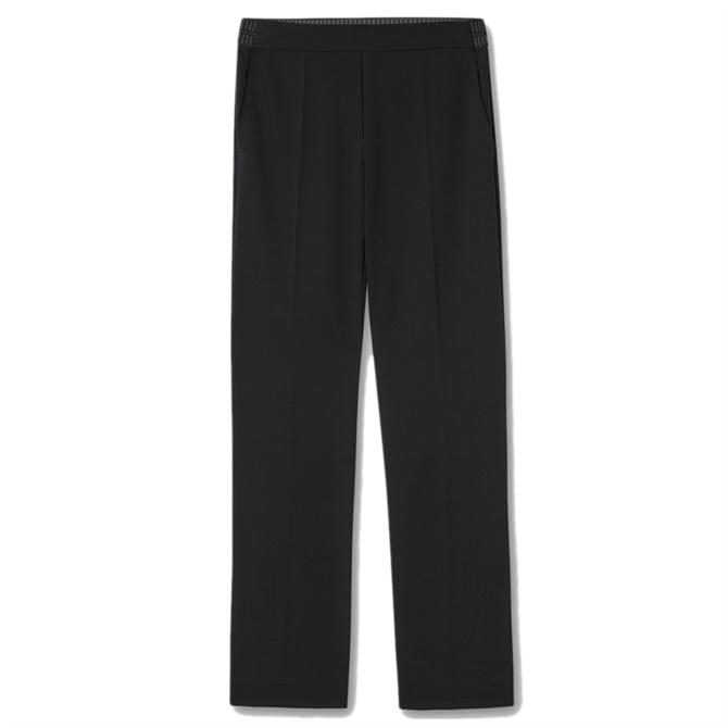 Luisa Cerano Slim Tailored Crepe Trousers