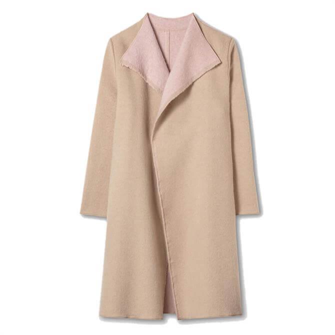 Luisa Cerano Two-Tone Reversible Wool Coat