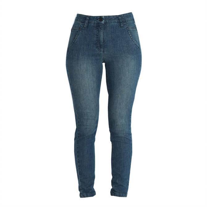 Luisa Cerano Blue Denim Skinny Jeans