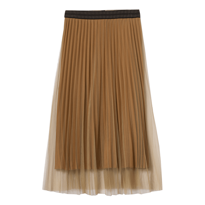 Luisa Cerano Pleated Tulle Skirt