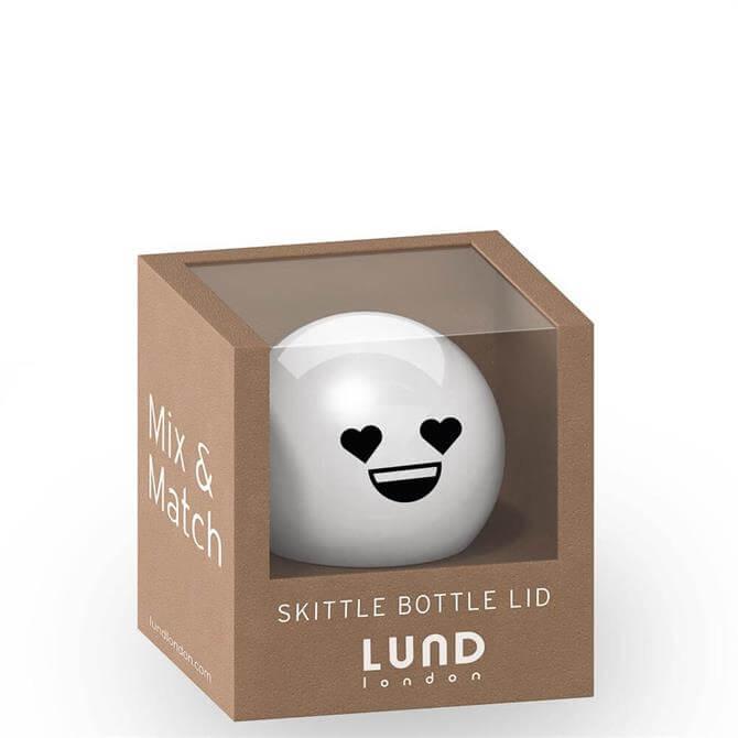 Lund London Skittle White Heart Bottle Lid