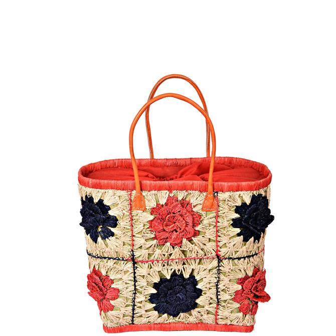 Madaraff Crocheted Floral Bag