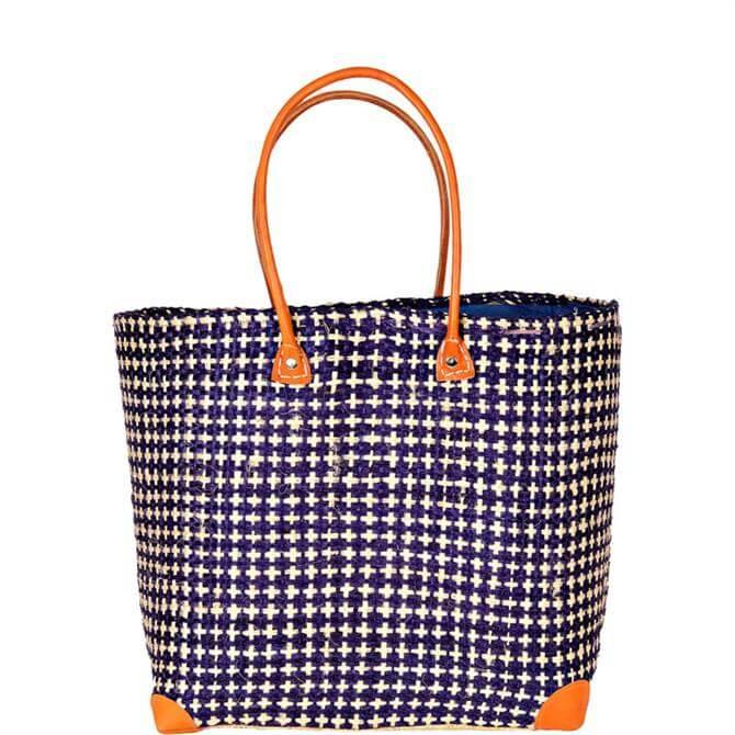 Madaraff Sisal Blue Bag