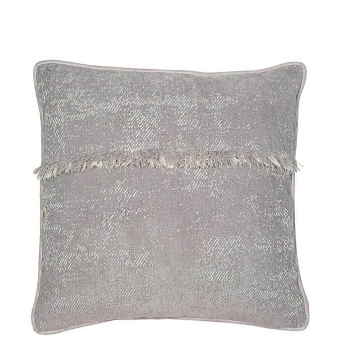 Malini Frangia Grey Cushion