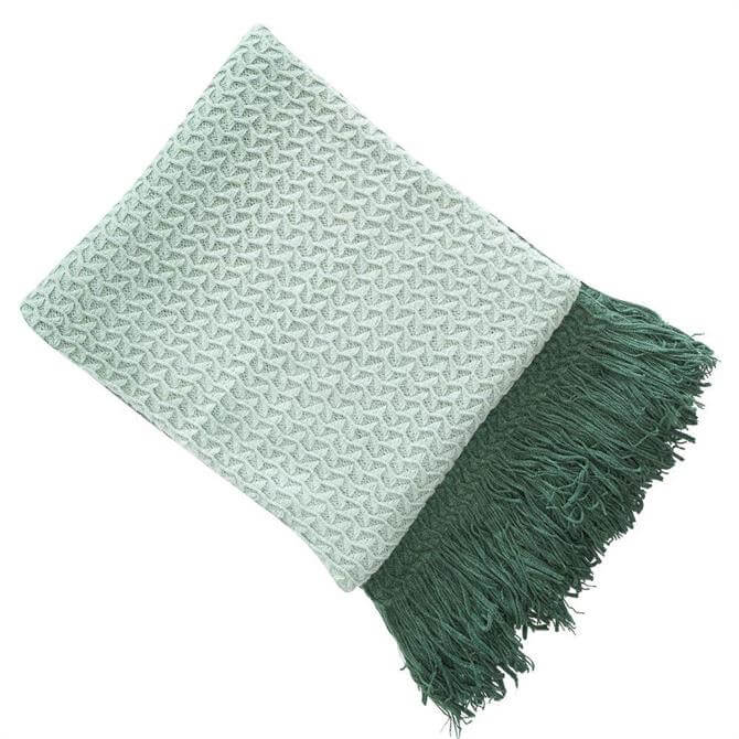 Malini Rhine Green Throw