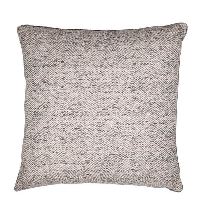 Malini Charcoal Ripple Cushion