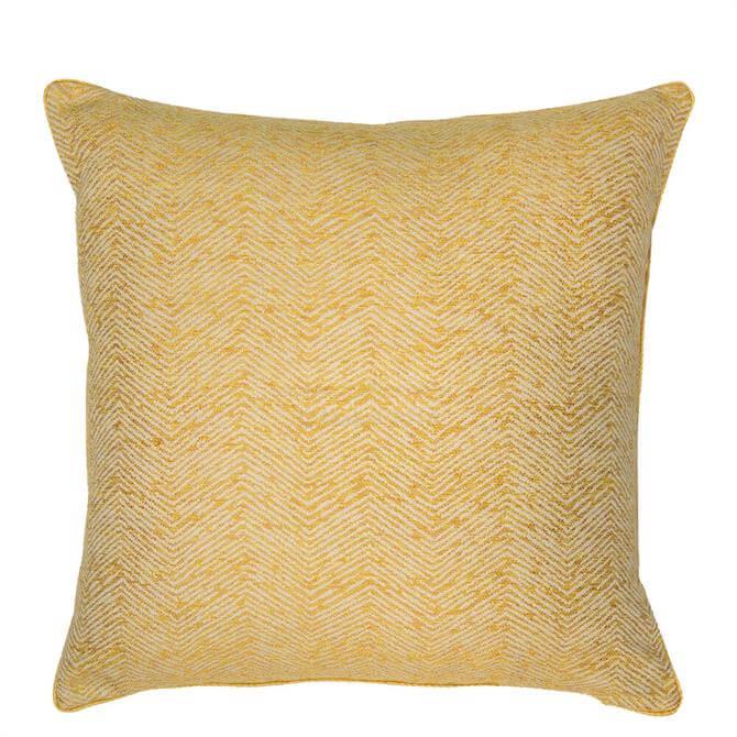 Malini Mustard Ripple Cushion