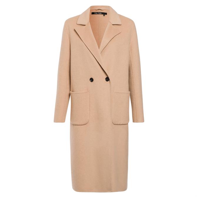 Marc Aurel Wool Blend Double Breasted Coat