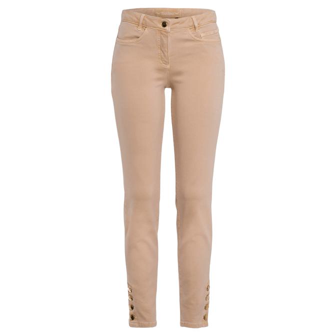 Marc Aurel Metal Button Trousers