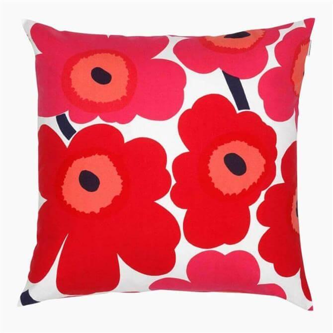 Marimekko Pieni Unikko Cushion Cover Red