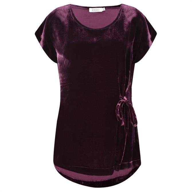 Masai Emely Velvet Short Sleeve Top