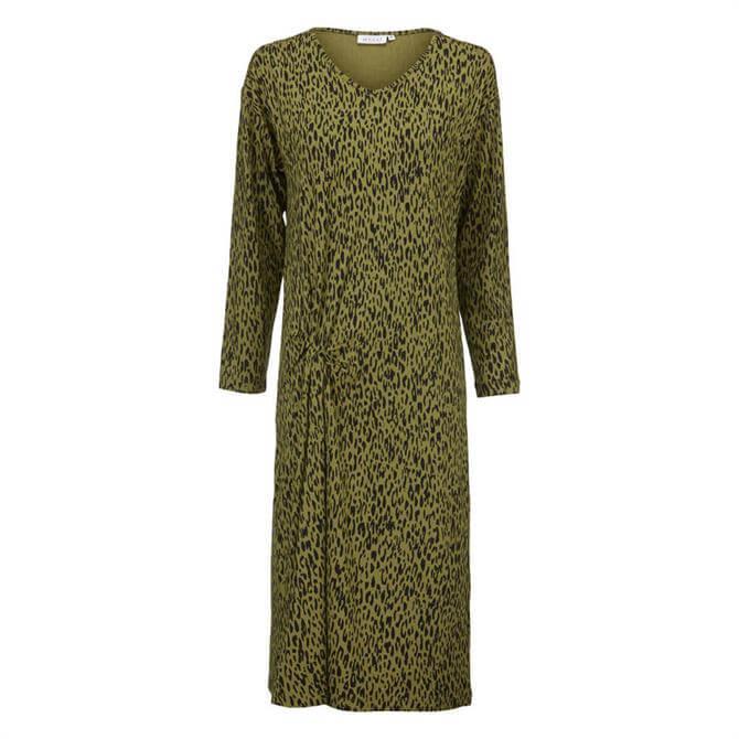 Masai Gladys Animal Print Midi Jersey Dress