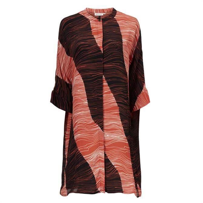 Masai Iosetta Stripe Print Shirt Dress