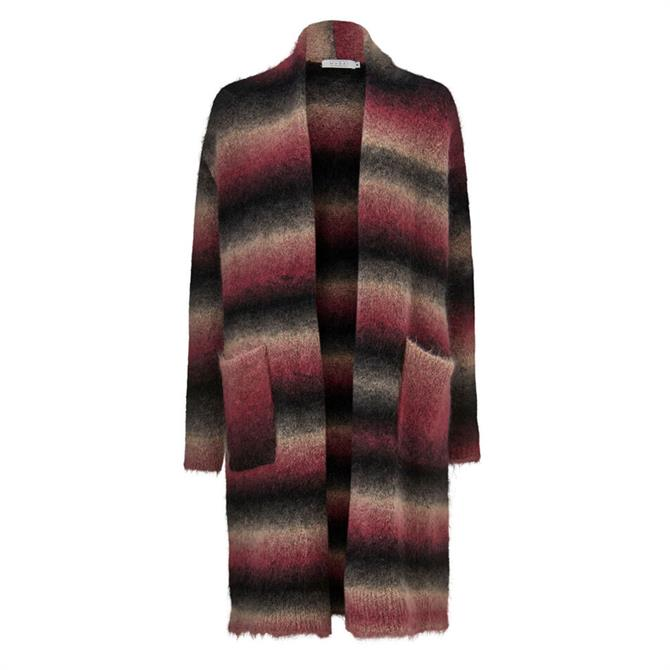 Masai Leonis Striped Mohair Wool Cardigan