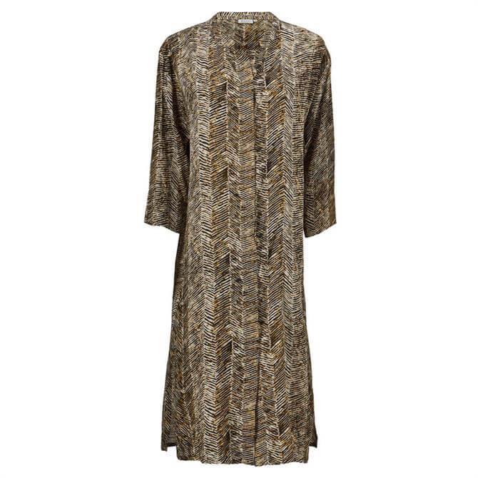 Masai Nimes Zigzag Print Shirt Dress