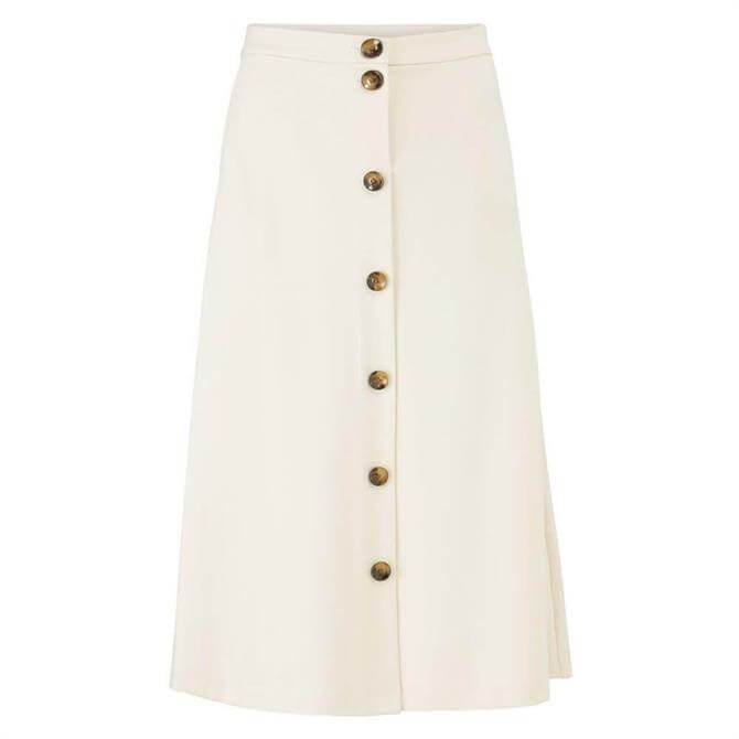 Masai Sandra Button Front Midi Skirt