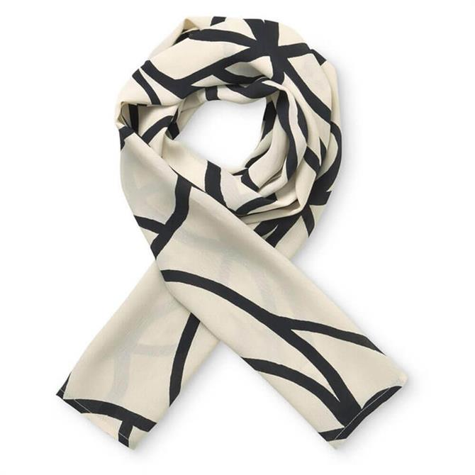 Masai Along Cream Black Print Scarf