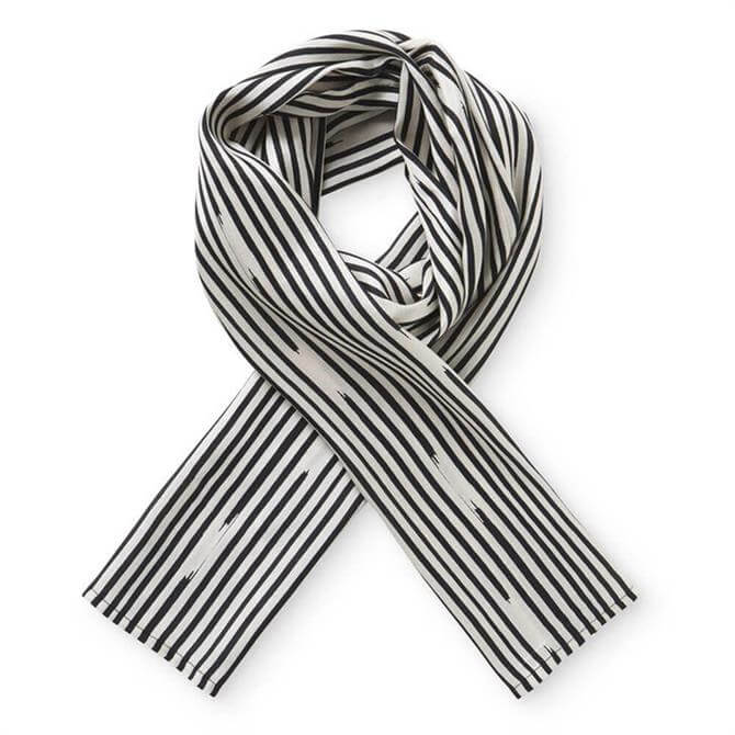 Masai Along Monochrome Stripe Scarf