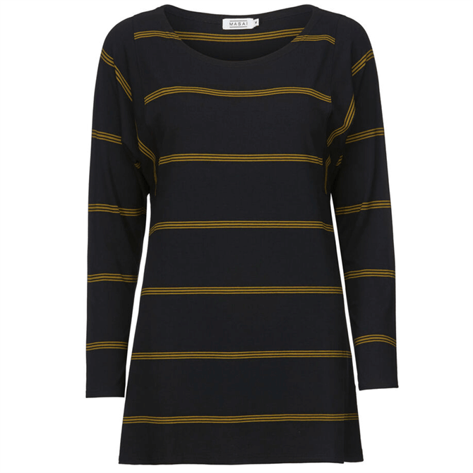 Masai Blanca Striped Jersey Top