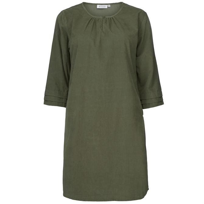 Masai Grith Plain Tunic Olive Green Dress