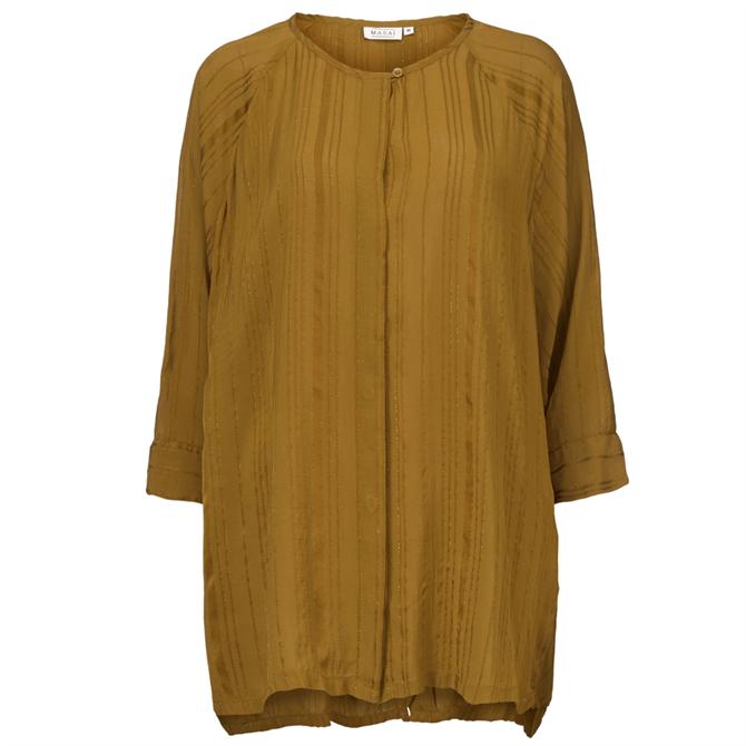 Masai Ingrid Longline Metallic Stripe Shirt