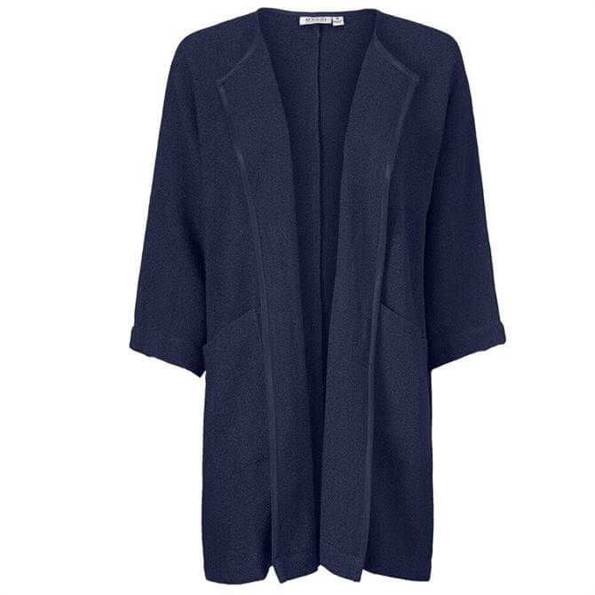 Masai Jarmis Boucle Longline Navy Knitted Jacket