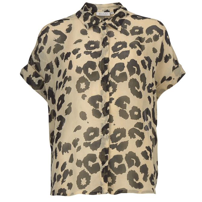 Masai Leva Short Sleeved Shirt Leopard Print Shirt