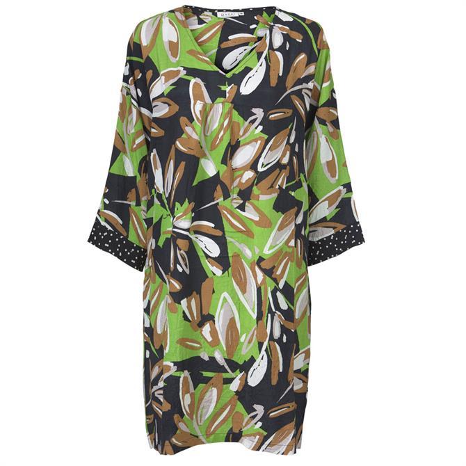 Masai Nabla Leaf Print Tunic Dress