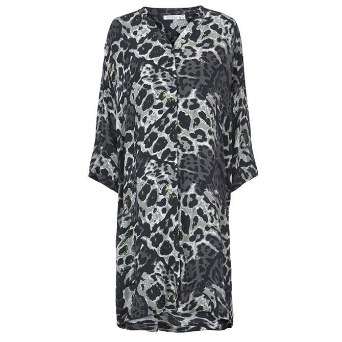 Masai Nakata Animal Print Loose Fit Dress