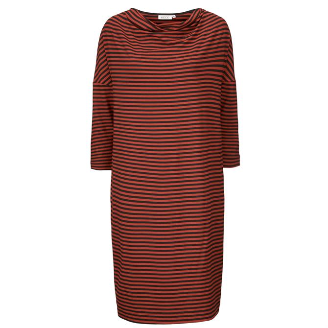 Masai Nika Striped 3/4 Sleeve Jersey Dress
