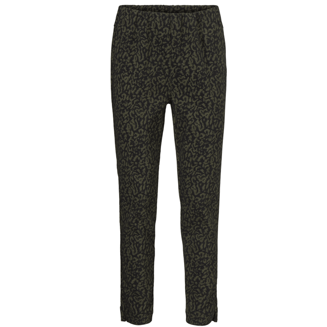 Masai Poppy Slim Fit Leopard Print Trousers